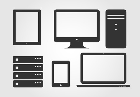 server icon: Electronic Device Icons, flat design