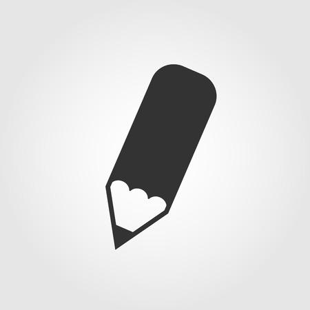 鉛筆アイコン、フラットなデザイン