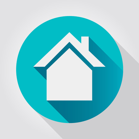 house market: Home icon, flat design