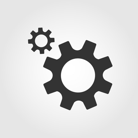 Gear icon, flat design