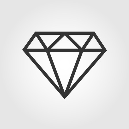 crystal clear: Diamond  icon, flat design