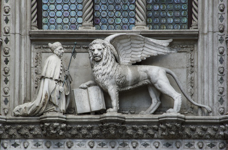 st mark's square: the doge of venice and lion