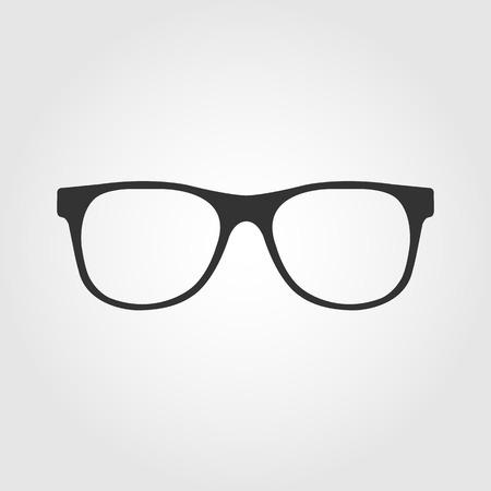 glasses icon, flat design