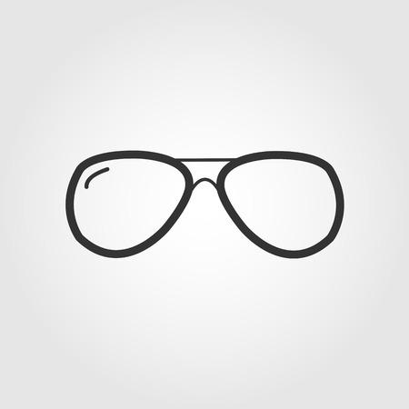 glasses icon, flat design Vector