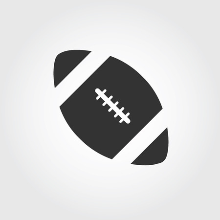 scores: American football icon, flat design