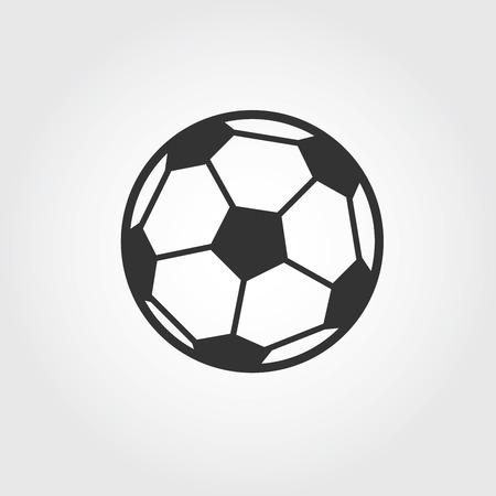 Football ball (soccer) icon, flat design