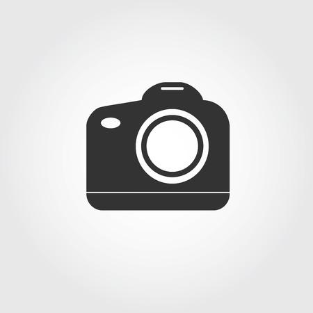 SLR camera icon, flat design