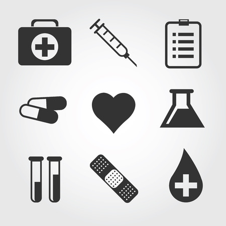 bandaid: Vector. Medical icon, flat design