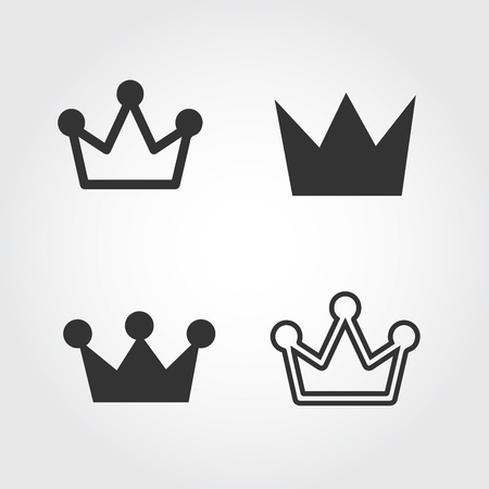 Vector Crown September icon, flat design