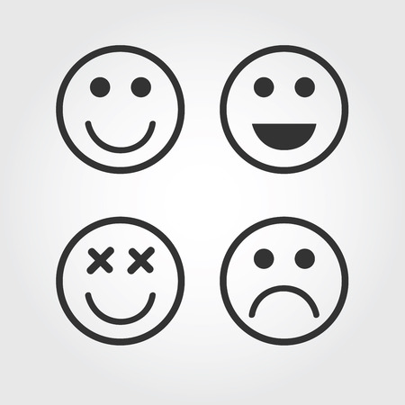 smily: Vector emotions September icon, flat design