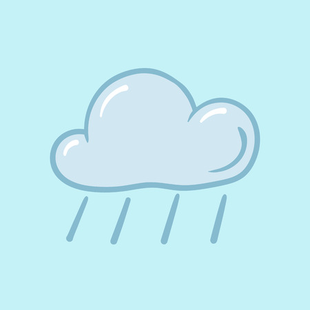meteorologist: weather icon on a blue background rain puddles wet Illustration