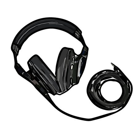 monitor headphones with wire