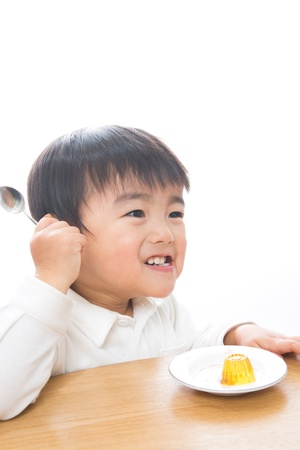 The child who eats food Stock Photo - 13153105