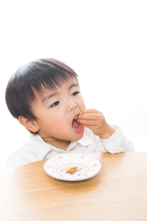 The child who eats food Stock Photo - 13151881