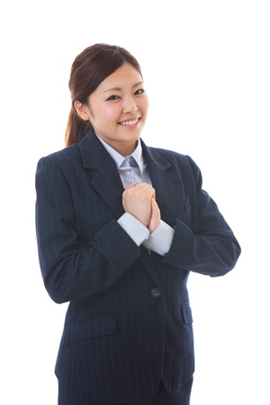 smile please: The young businesswoman who is pleased