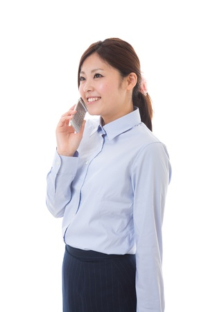 The businesswoman who talks on the telephone Stock Photo - 13778709