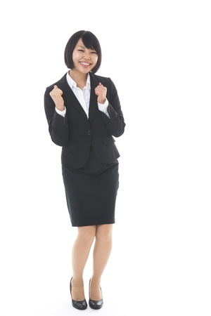 the whole body: Whole body of a young businesswoman