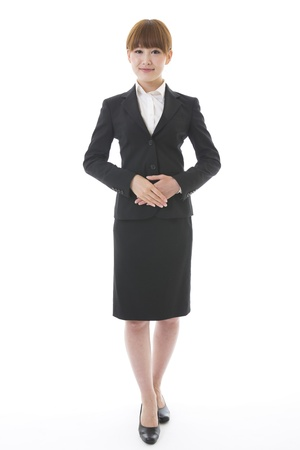 Whole body of a young businesswoman