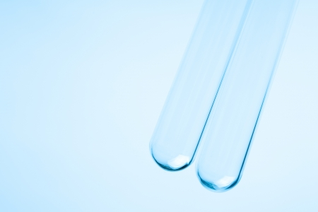 Lab-ware of the blue background Stock Photo - 15843283