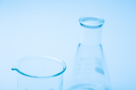 Lab-ware of the blue background Stock Photo - 15843191
