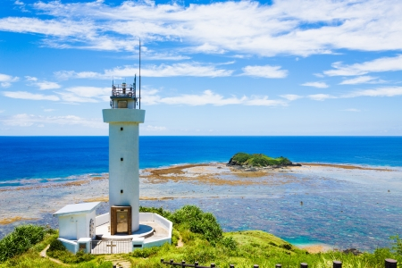 lighthouse and island of the southern country