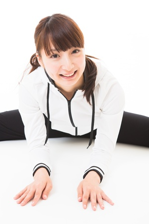Young woman who plays sports photo