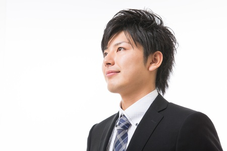 young businessman dressed in the suit Stock Photo