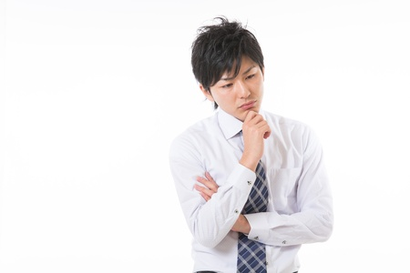 young businessman who is troubled Stock Photo - 17255195