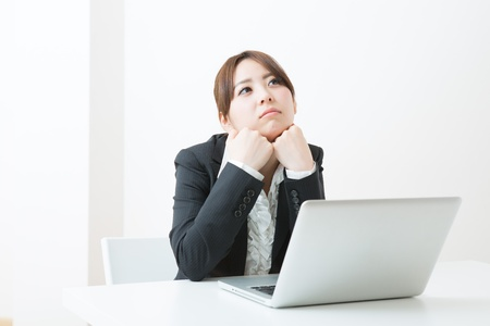 young businesswoman who is troubled Stock Photo - 19020108