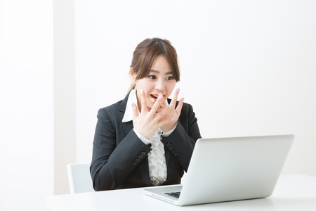 young businesswoman who is troubled Stock Photo - 19020252