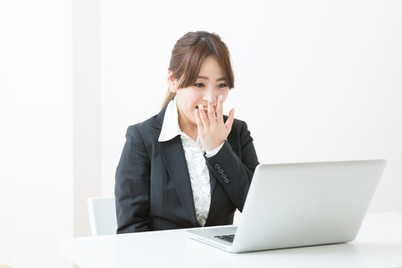 young businesswoman who is troubled Stock Photo - 19020124