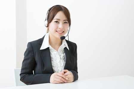 young female customer service operator