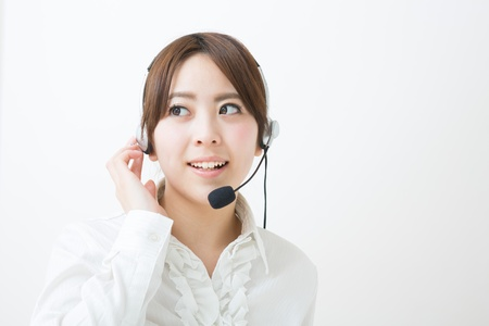young female customer service operator Stock Photo - 19020661