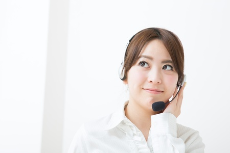 young female customer service operator