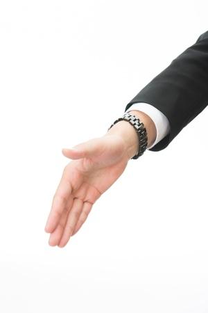 established: businessman who shakes hands
