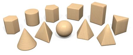 Solid Geometry Wooden Toy Blocks photo