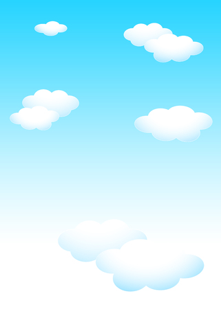 Background material template: blue sky white cloud template Reklamní fotografie - 121160793