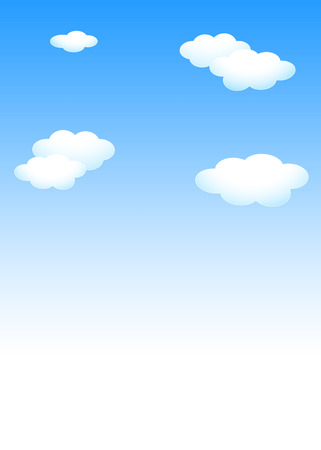 Background material template: blue sky white cloud template