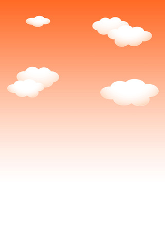 Template background material: sunset sky white cloud template