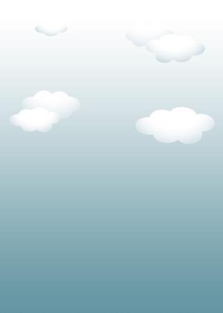 Background material template: dark sky white cloud template 写真素材