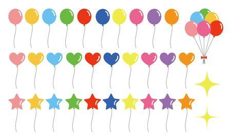 Colorful Balloon Set Vector Illustration