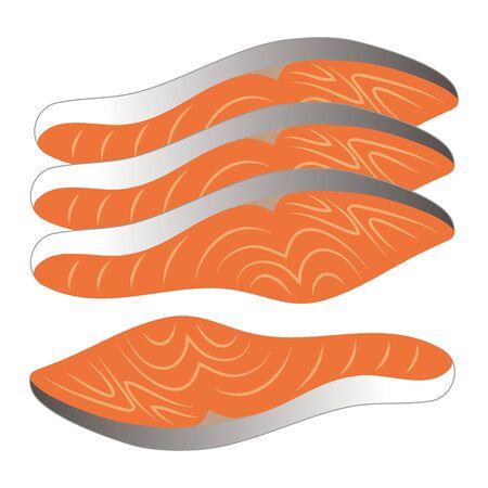 Salmon Fillet Vector Illustration