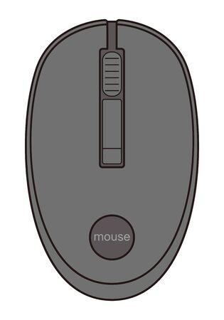 Mouse Vector Illustrations on Computers Illusztráció