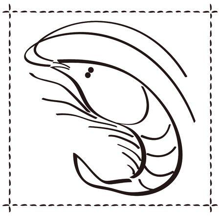 Sakura Shrimp Vector Illustration Vector Illustratie