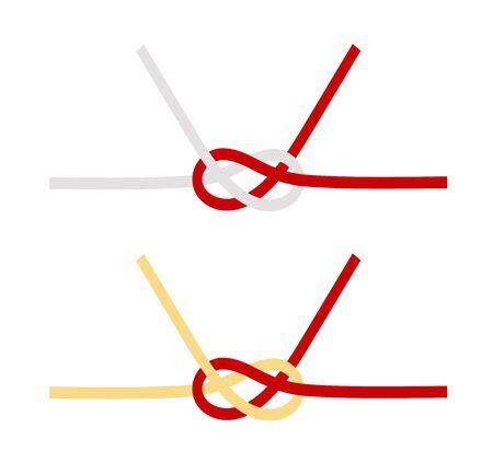 Mizuhiki Awaji-knot Vector Illustration Иллюстрация