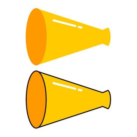 Simple megaphone icon