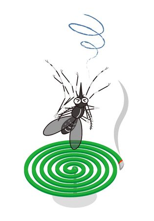 Mosquitoes mosquito coil and mosquito and the mosquito-repellent incense