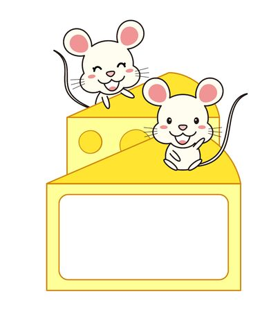 Mouse and Cheese Frame Imagens