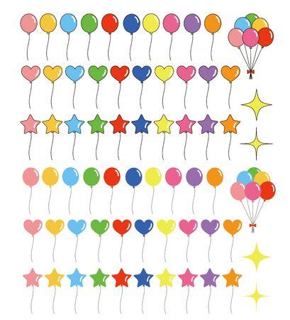Colorful Balloon Set Vector Illustration Balloon