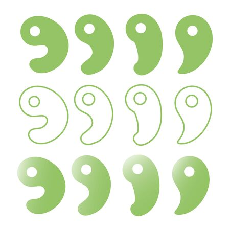 Set of different types of magatama Vector Ilas